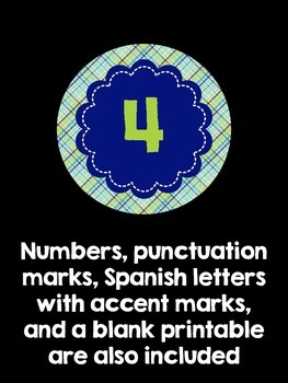 Bulletin Board Letters:  Blue and Green