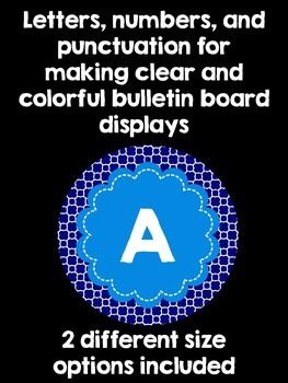 Bulletin Board Letters:  Navy and Cornflower Blue