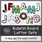 Bulletin Board Letters: 12 Month Seasonal Bundle