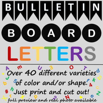 Bulletin Board Letters