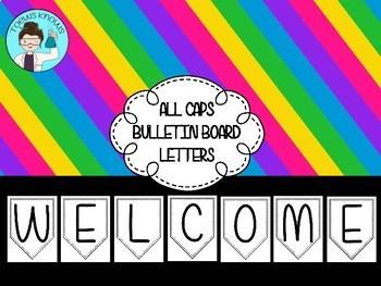 All Caps Bulletin Board Letters
