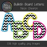 Bulletin Board Letters: Neon Chevron (Classroom Decor)