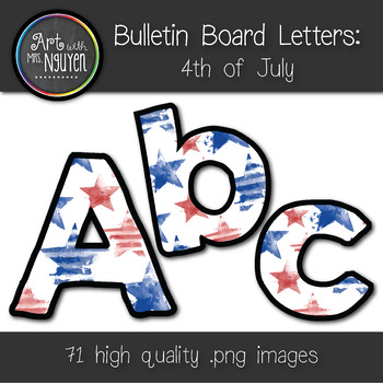 Bulletin Board Letters: 4th of July (Classroom decor)