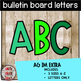 Bulletin Board Letters A-Z AG IM EXTRA