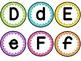 Bulletin Board Letters Aa-Zz and Symbols (Polka Dots)