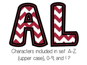 Bulletin Board Letters: Alabama - Crimson Tide (Classroom Decor)