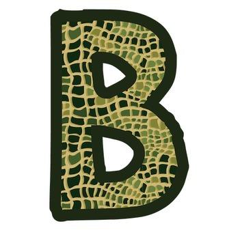 Bulletin Board Letters: Alligator (Gator) Skin Print (Classroom Decor)