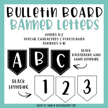 Bulletin Board Letters - Alphabet Banners (Set #2)