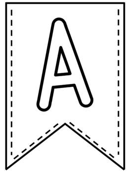 Bulletin Board Letters - Alphabet Pennant Banners (Set #1)