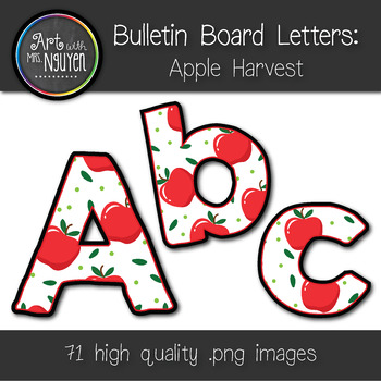 Bulletin Board Letters: Apple Harvest (Classroom Decor)
