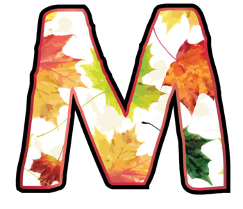 Bulletin Board Letters: Autumn Leaves (Classroom Decor)