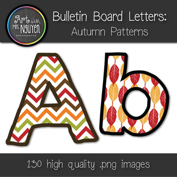 Bulletin Board Letters: Autumn and Thanksgiving (Classroom Decor)