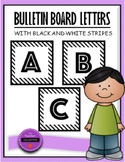 Bulletin Board Letters B&W Stripe