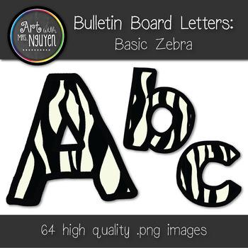 Bulletin Board Letters: Basic Zebra Print (Classroom Decor)