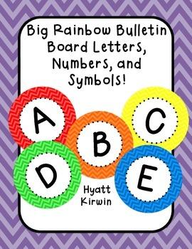 Bulletin Board Letters: Big Rainbow Colors