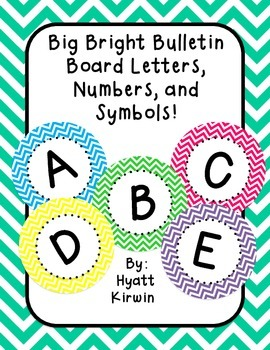 Bulletin Board Letters: Big and Bright