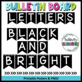 Bulletin Board Letters- Black Bunting Letters