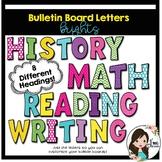 Bulletin Board Letters (Brights)