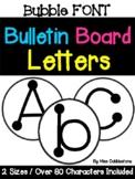 Bulletin Board Letters - Bubble Font