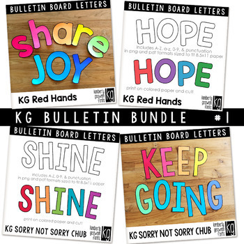 Bulletin Board Letters Bundle #1 KG Fonts
