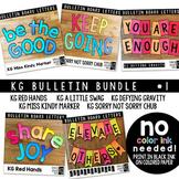 Bulletin Board Letters Bundle #1 KG Fonts