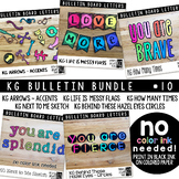 Bulletin Board Letters Bundle #10 KG Fonts