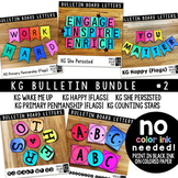 Bulletin Board Letters Bundle #2 KG Fonts