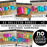 Bulletin Board Letters Bundle #3 KG Fonts