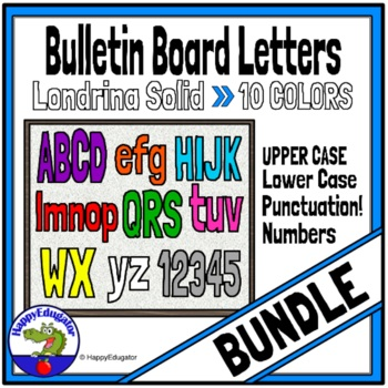 Bulletin Board Letters Bundle