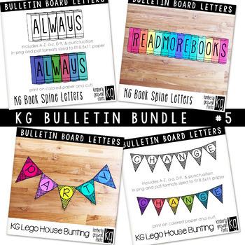 Bulletin Board Letters Bundle #5 KG Fonts
