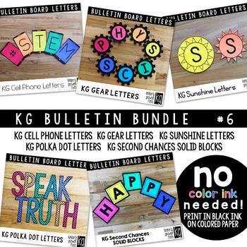 Bulletin Board Letters Bundle #6 KG Fonts