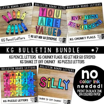 Bulletin Board Letters Bundle 7 KG Fonts