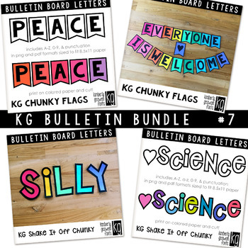 Bulletin Board Letters Bundle #7 KG Fonts