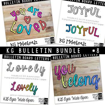 Bulletin Board Letters Bundle #8 KG Fonts