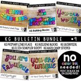 Bulletin Board Letters Bundle #9 KG Fonts