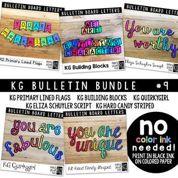 Bulletin Board Letters Bundle #9 KG Fonts