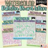 Printable Bulletin Board Letter Bundle: 7 Watercolor Alphabet & Punctuation Sets