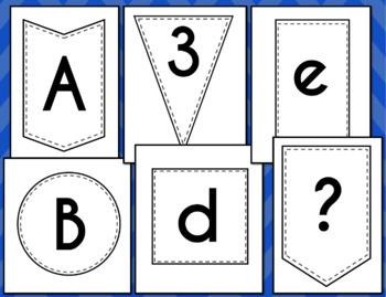 Bulletin Board Letters Bundle (Shapes)
