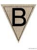 Bulletin Board Letters: Burlap