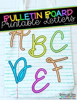 Bulletin Board Letters - Chalk and Apples
