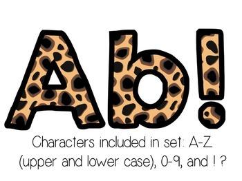 Bulletin Board Letters: Cheetah Print (Classroom Decor)