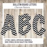 Bulletin Board Letters Chevron Pattern
