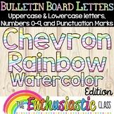 Bulletin Board Letters: Chevron Rainbow Watercolor