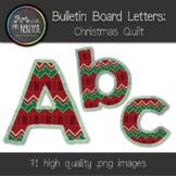 Bulletin Board Letters: Christmas Quilt (Classroom Decor)