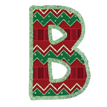 Bulletin Board Letters: Christmas Quilt (Classroom Decor)