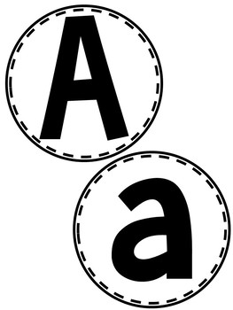 Bulletin Board Letters - Circles
