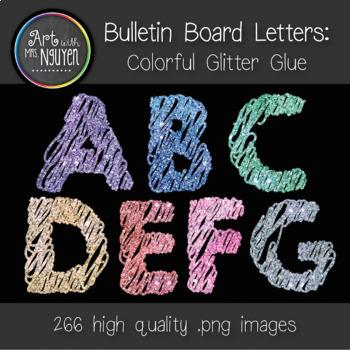 Bulletin Board Letters: Colored Glitter Glue - 7 Colors (C