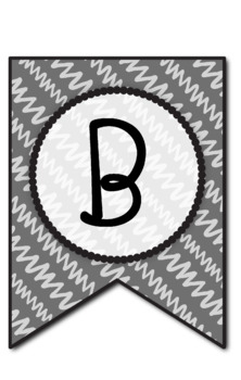 Bulletin Board Letters: Colorful Bunting (6 designs in 6 colors) *Editable*