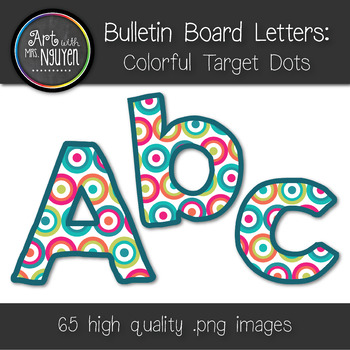bulletin board letters colorful target dots classroom With bulletin board letters target