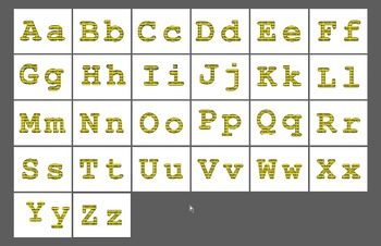 Bulletin Board Letters - Computer Binary Code Pattern